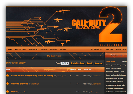 Call of Duty Clan Websites