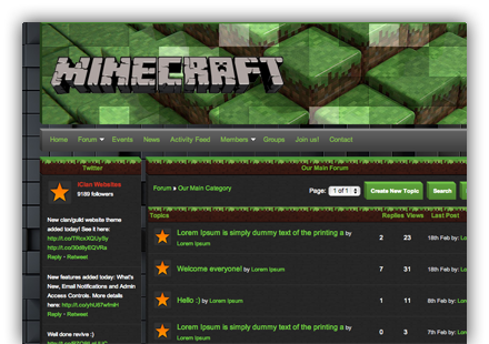 Minecraft Clan Websites