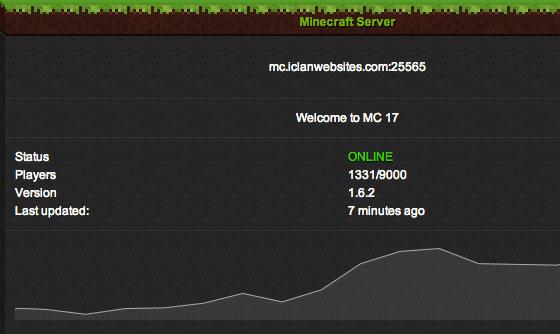 The new Minecraft server monitor